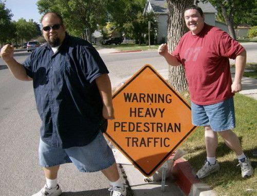 Heavy pedestrian traffic