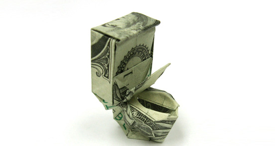 Money toilet