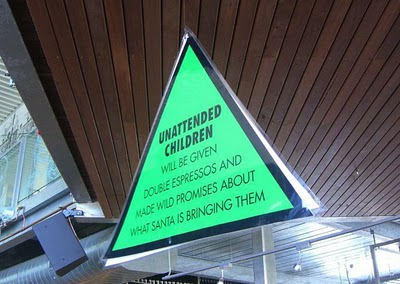 Unattended children sign