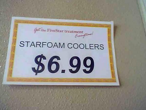 Starfoam coolers