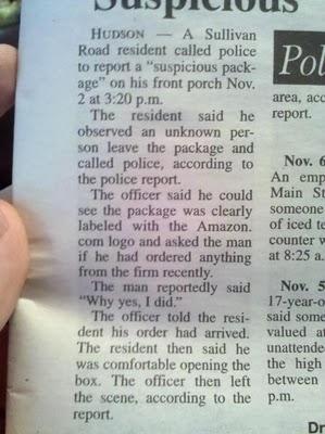Suspicious pkg