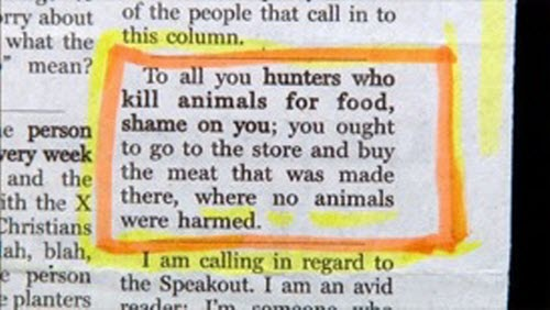 Note to all hunters