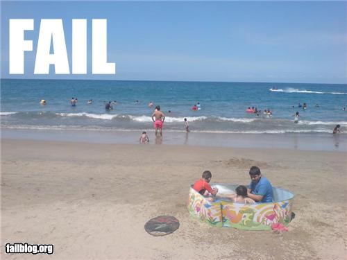 At the beach fail