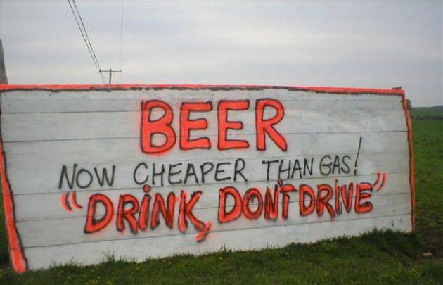 Beer cheaper than gas
