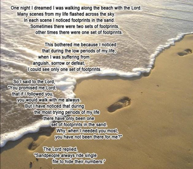 Footprints sandpeople