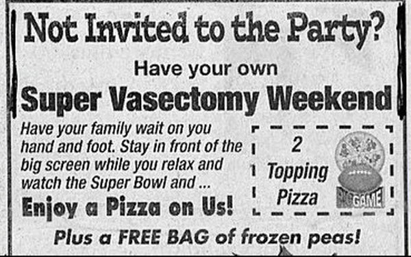 Super vasectomy weekend