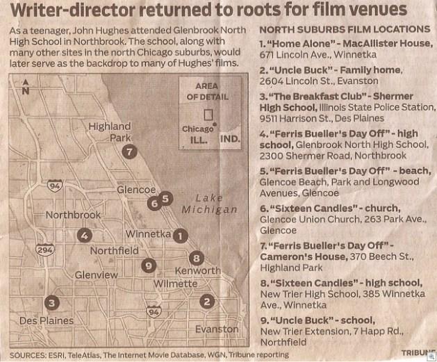John hughes movie locations