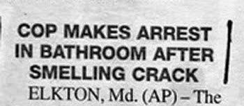 Smelling crack