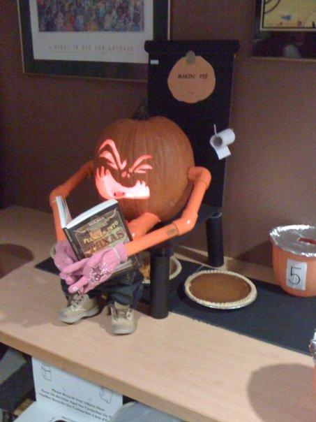 Making pumpkin pie2