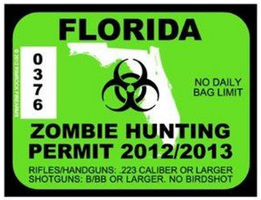 Zombie hunting permit2