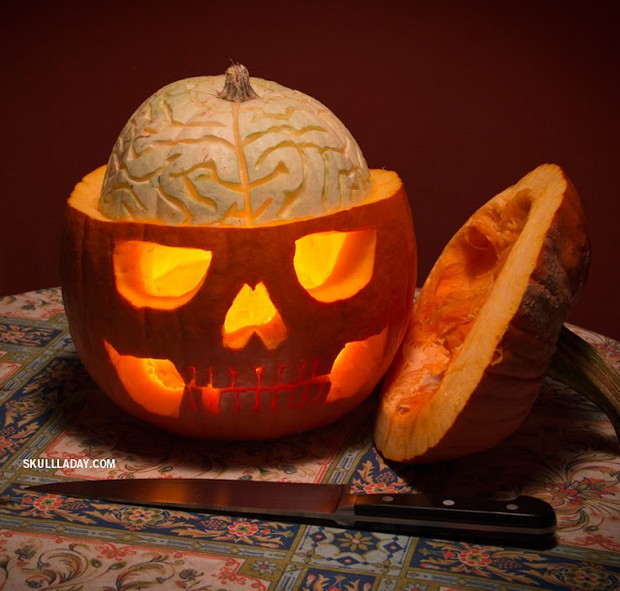 Brains jackolantern