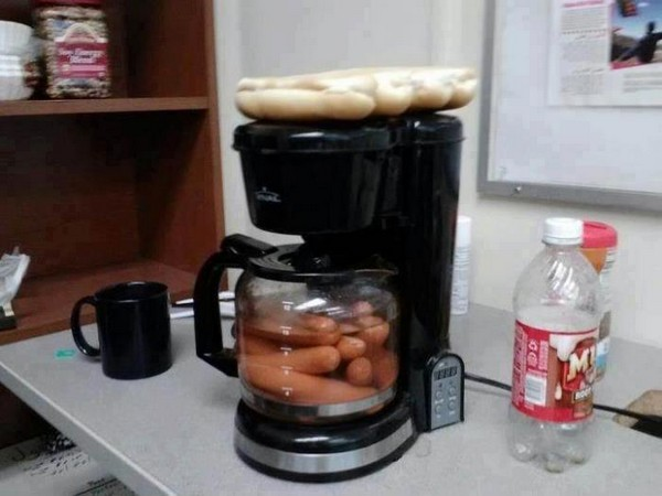 Morning cup of hot dogs