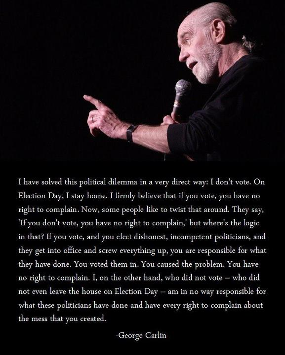 George carlin on election day