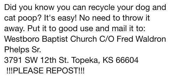 Recycle poop