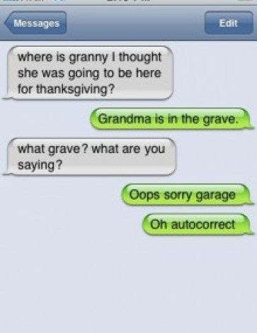 Granny is in the grave