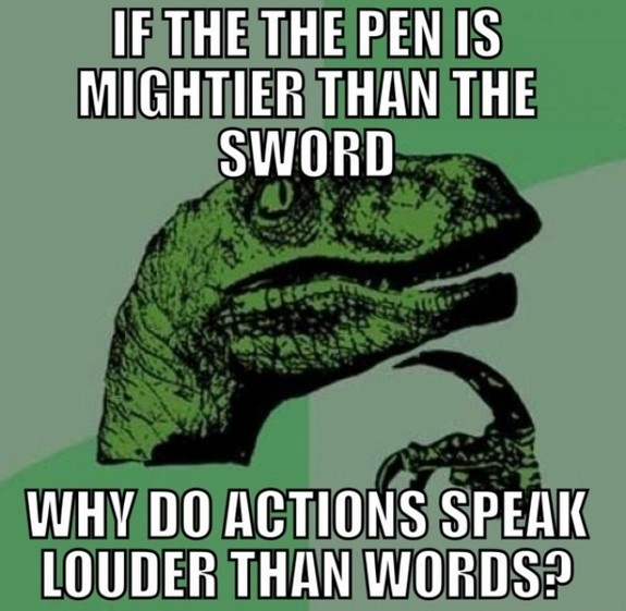 If the pen is mightier
