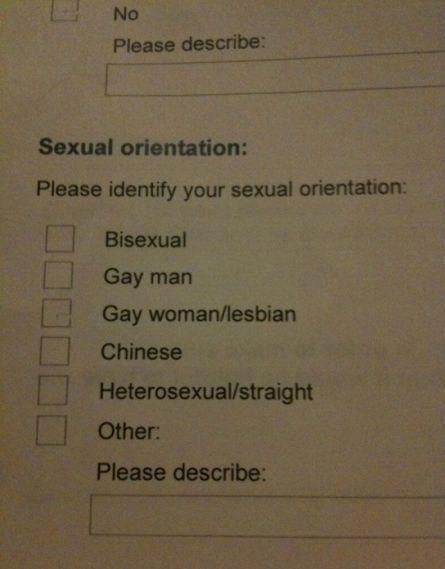Sex checklist