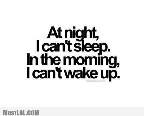 At night I can't sleep