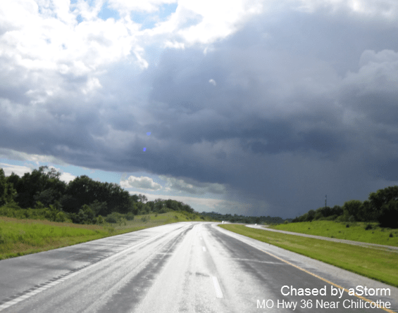 Chased by a storm