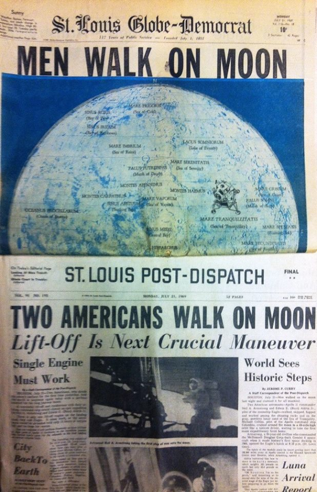 Men walk on moon