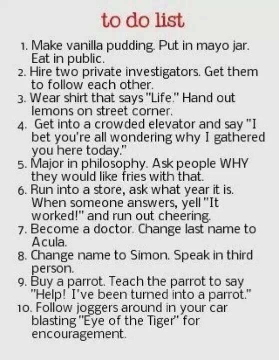 Fun to do list
