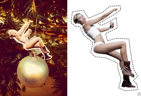 X'mas tree ball with Miley Cyrus_2