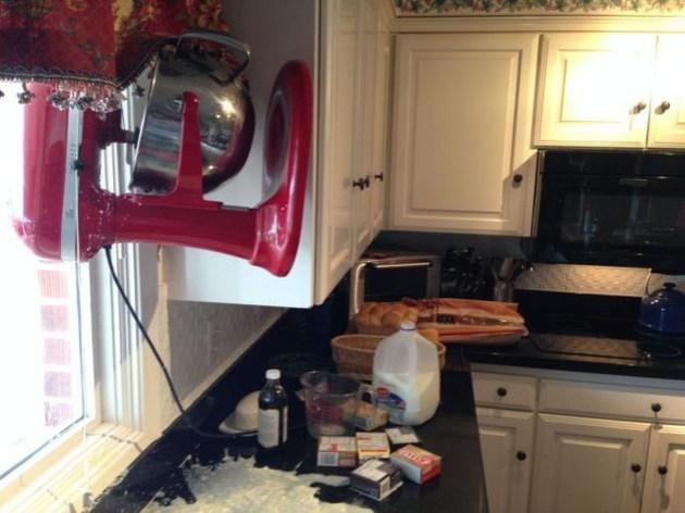 Kitchen accident