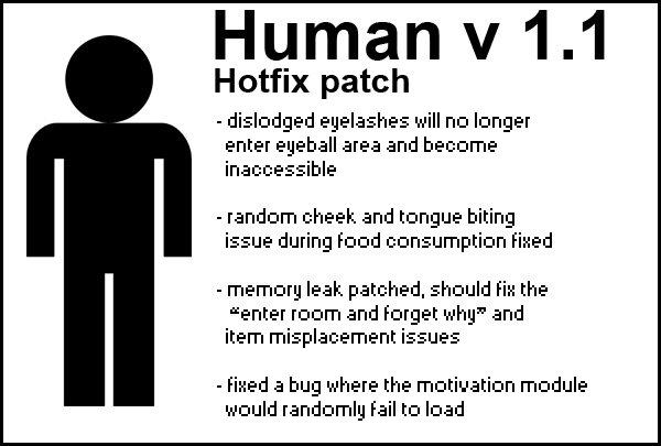 Human 1.1 hotfix patch