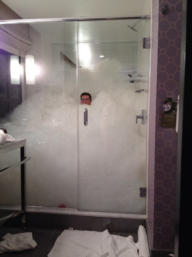 Bubble shower