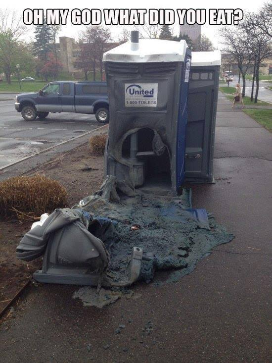Toilet meltdown