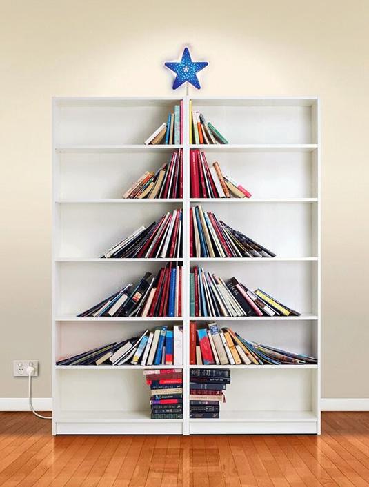 Αποτέλεσμα εικόνας για christmas book tree