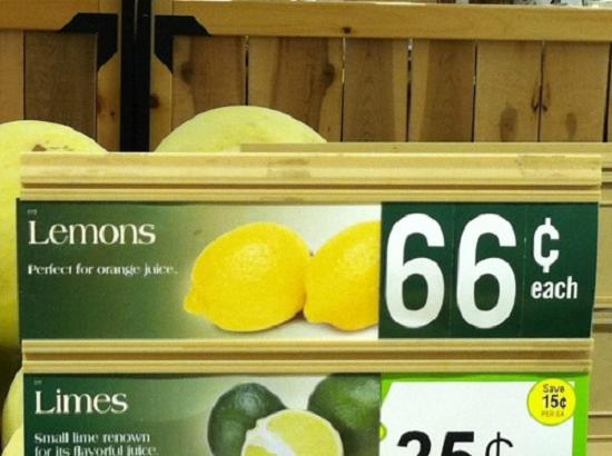 Lemons perfect for orange juice