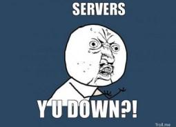 Website server down