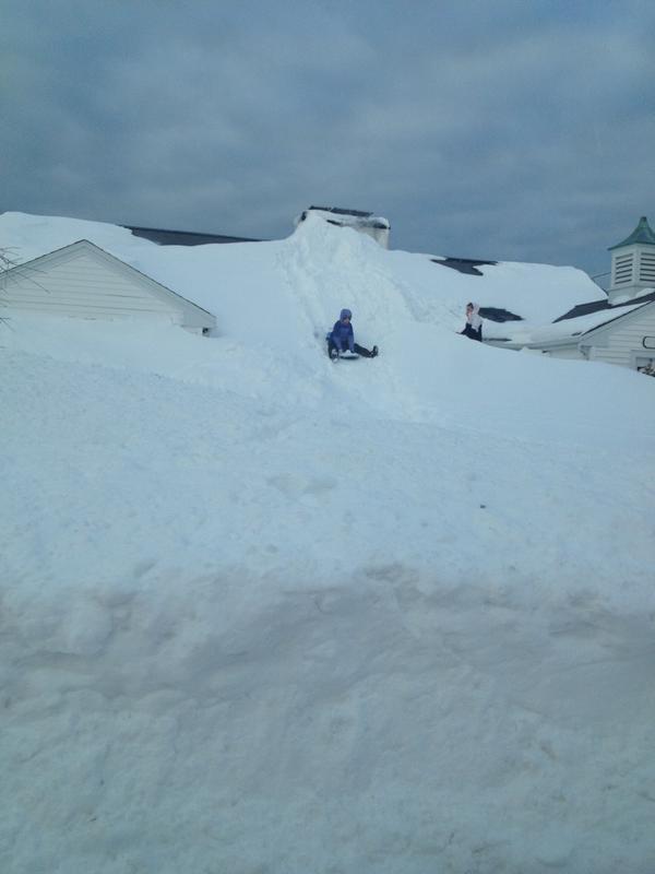 Roof sledding
