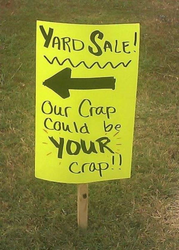 Crap sale