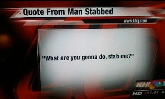 Quote from stabbed man