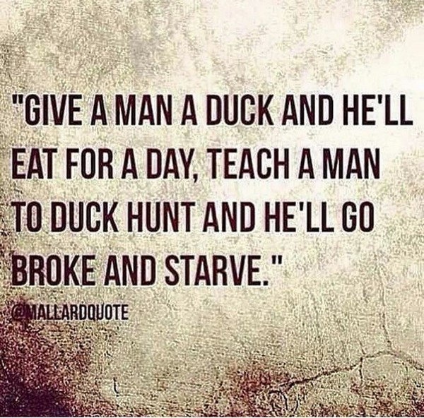 Give a man a duck