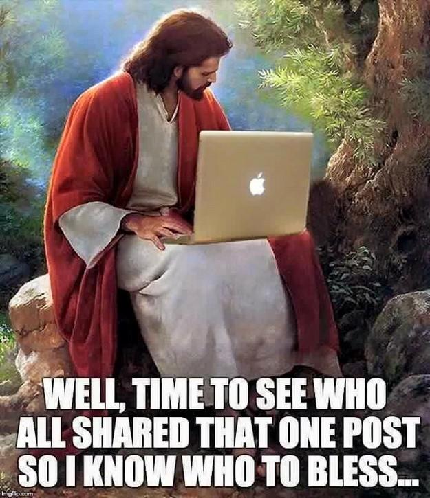 Jesus checking in