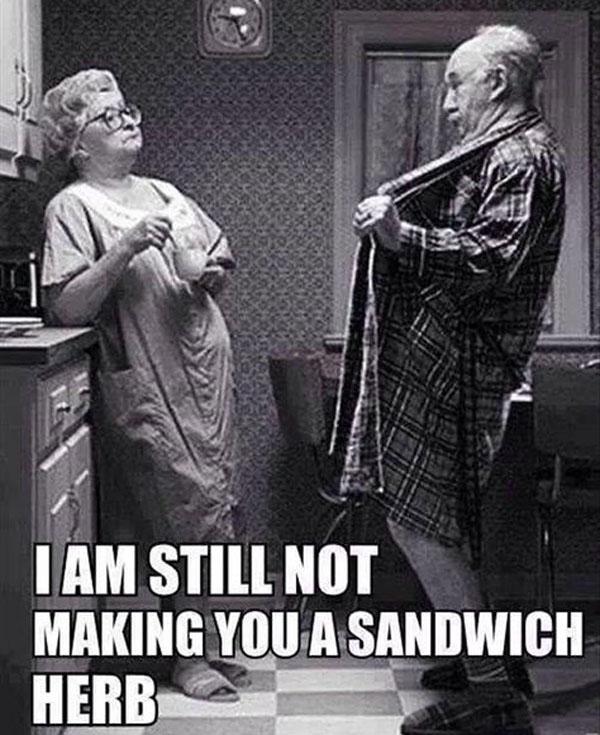 No sandwich herb