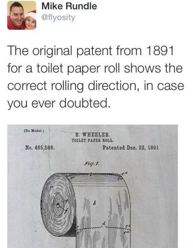 TP roll patent