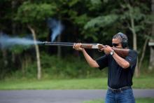 Barack Obama fries a blank