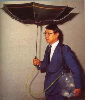 Paraguas ecológico, reciclando el agua de lluvia