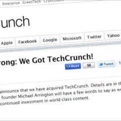 AOL compra TechCrunch, se especula que en $25 millones [Actualización: video de la firma del acuerdo]