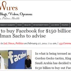 El Rey de Arabia Saudita [no] está comprando Facebook para detener las revueltas en Medio Oriente