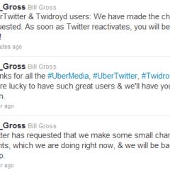 UberTwitter y otros clientes de UberMedia suspendidos por Twitter ¿empieza la guerra?