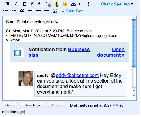 Discusiones en Google Docs
