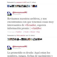 Anonymous inicia ataques contra Ecuador