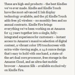 Amazon presenta el Kindle Fire (¿el iPad Killer?) y otros dos modelos