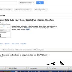 Google Reader se actualiza, centrándose en compartir vía Google+