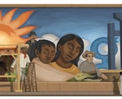 Doodle de Google en honor a Diego Rivera